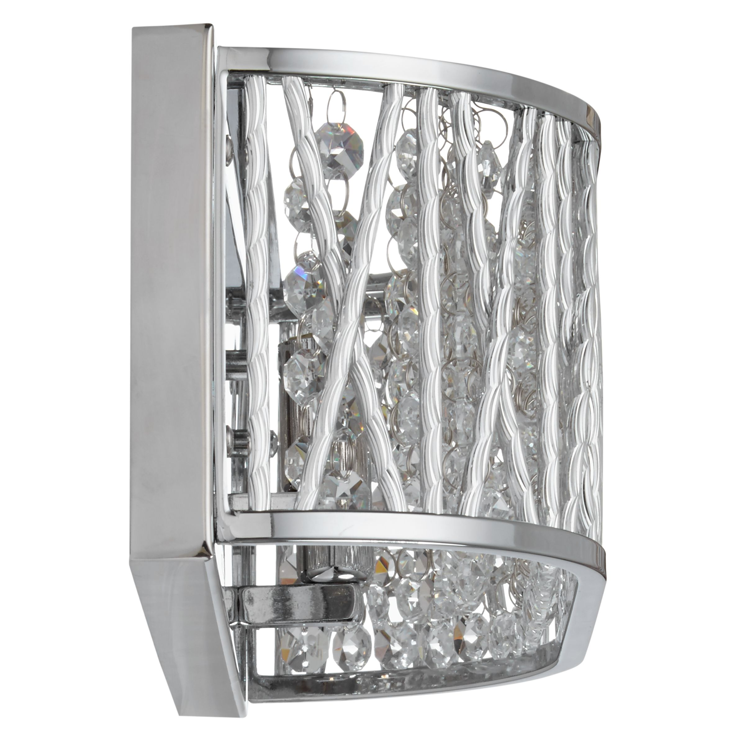 Buy John Lewis Emilia Crystal Drum Wall Light John Lewis