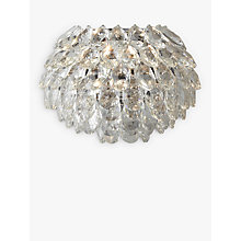 Buy John Lewis Alexa Crystal Wall Light, Clear/Chrome Online at johnlewis.com