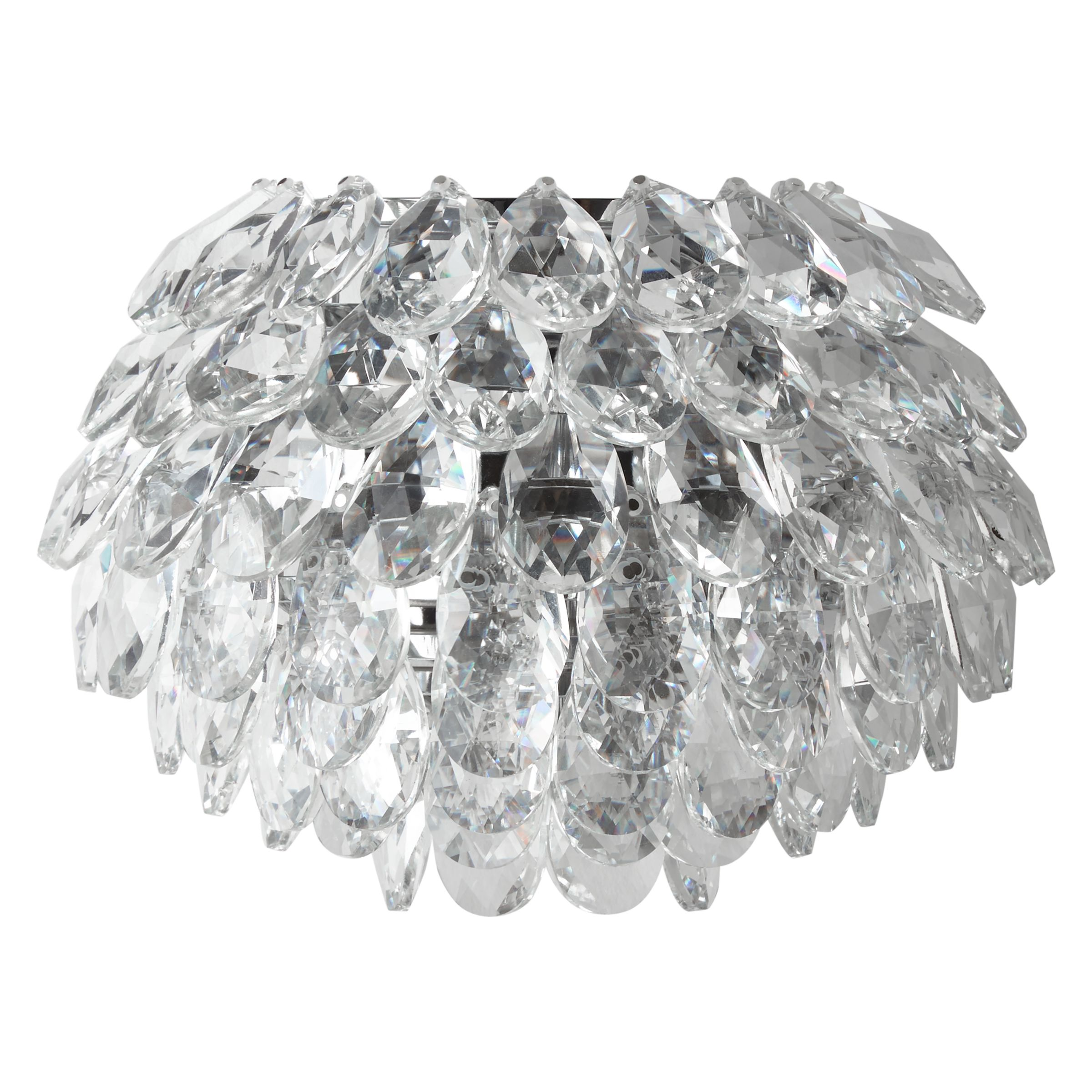 Buy John Lewis Alexa Crystal Wall Light, Clear/Chrome John Lewis