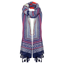 Buy Miss Selfridge Neon Stripe Geo Scarf, Multi Online at johnlewis.com