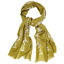 Buy White Stuff Bird Embroidery Scarf, Green Online at johnlewis.com