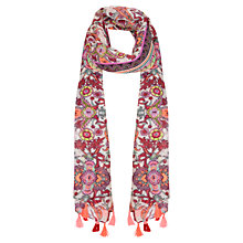 Buy Miss Selfridge Paisley Neon Scarf, Multi Online at johnlewis.com