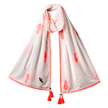 Buy East Embroidered Booti Scarf, Flamingo Online at johnlewis.com