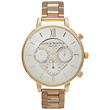 Buy Olivia Burton OB14CG31 Women's Big Dial Chronograph Bracelet Strap Watch, Gold/Silver Online at johnlewis.com