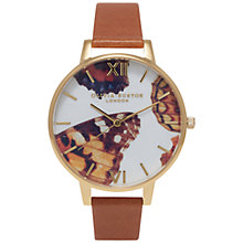 Buy Olivia Burton OB15WL47 Women's Woodland Butterfly Watch, Tan Online at johnlewis.com