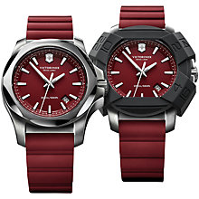 Buy Victorinox 2417191 Men's I.N.O.X Rubber Strap Watch, Red Online at johnlewis.com