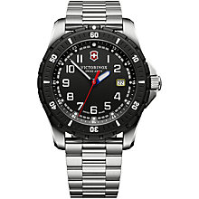 Buy Victorinox 241675 Men's Swiss Army Maverick Sport Stainless Steel Bracelet Strap Watch, Silver/Black Online at johnlewis.com