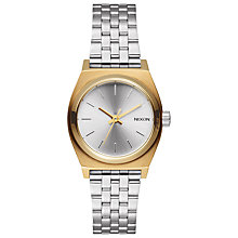 Buy Nixon A399-2062 Women's Small Time Teller Watch, Silver Online at johnlewis.com