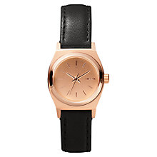Buy Nixon Women's Small Time Teller Leather Strap Watch Online at johnlewis.com
