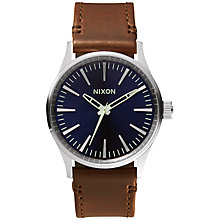 Buy Nixon Men's Sentry 38 Leather Strap Watch Online at johnlewis.com
