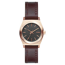 Buy Nixon A509-2001 Women's Small Time Teller Watch, Brown Online at johnlewis.com