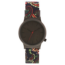 Buy Komono KOM-W1824 Unisex Wizard Print Series Leather Strap Watch, Paisley Online at johnlewis.com
