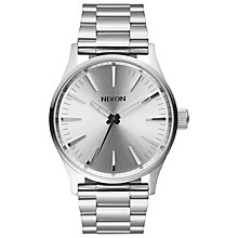 Buy Nixon A450-1920 Men's Sentry 38 SS Watch, Silver Online at johnlewis.com