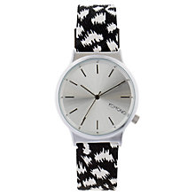 Buy Komono KOM-W1836 Unisex Wizard Print Series Leather Strap Watch, Nightflakes Online at johnlewis.com