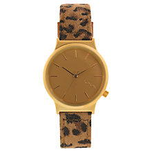 Buy Komono KOM-W1802 Unisex Wizard Print Series Leather Strap Watch, Leopard Online at johnlewis.com