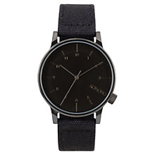 Buy Komono Men's Winston Heritage Canvas Strap Watch, Duotone Black Online at johnlewis.com