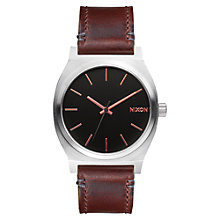 Buy Nixon A045-2066 Men's Time Teller Bracelet Strap Watch, Brown/Black Online at johnlewis.com