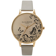Buy Olivia Burton OB15AM55 Women's Animal Motif Butterfly Watch, Grey Online at johnlewis.com