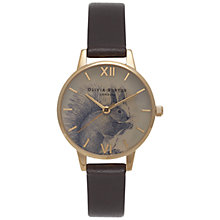 Buy Olivia Burton OB15WL43 Women's Woodland Squirrel Watch, Dark Chocolate Online at johnlewis.com