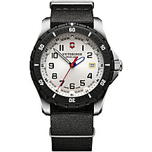 Buy Victorinox 241676.1 Men's Swiss Army Maverick Sport Stainless Steel Fabric Strap Watch, Black Online at johnlewis.com