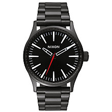 Buy Nixon A450-005 Men's Sentry 38 SS Watch, Black Online at johnlewis.com