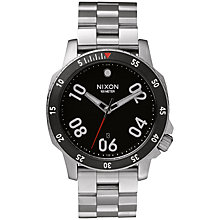 Buy Nixon A506-000 Men's Ranger Stainless Steel Bracelet Watch, Black/Silver Online at johnlewis.com