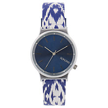 Buy Komono KOM-W1835 Unisex Wizard Print Series Leather Strap Watch, Batik Blues Online at johnlewis.com