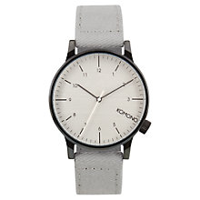 Buy Komono Men's Winston Heritage Canvas Strap Watch, Duotone Grey Online at johnlewis.com