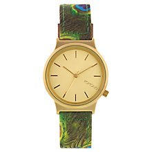 Buy Komono KOM-W1821 Unisex Wizard Print Series Leather Strap Watch, Peacock Online at johnlewis.com