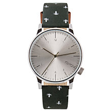 Buy Komono Men's Winston Print Leather Strap Watch Online at johnlewis.com