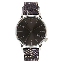 Buy Komono Men's Winston Print Paisley Watch, Black Online at johnlewis.com