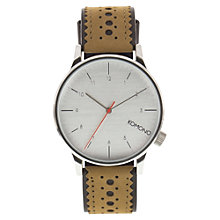 Buy Komono Unisex Winston Leather Strap Watch Online at johnlewis.com