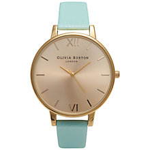 Buy Olivia Burton OB14BD22 Women's Big Dial Watch, Mint Online at johnlewis.com