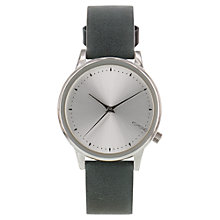 Buy Komono Women's Estelle Leather Strap Watch, Classic Teal Online at johnlewis.com