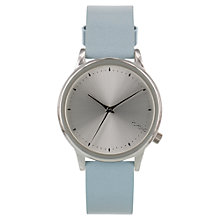 Buy Komono W2501 Women's Estelle Iridiscent Leather Wristband Watch, Pastel River Blue Online at johnlewis.com