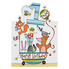 Buy Rachel Ellen Age 1 Boy Animal Birthday Card Online at johnlewis.com