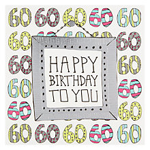 Buy Pocket Type Writer Silver 60th Birthday Card Online at johnlewis.com