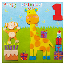 Buy Twizler Age 1 Giraffe Birthday Card Online at johnlewis.com