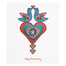 Buy Portfolio Anniversary Doves Greeting Card Online at johnlewis.com
