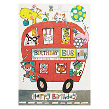 Buy Rachel Ellen Birthday Bus Greeting Card Online at johnlewis.com