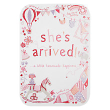 Buy Woodmansterne Baby Girl Toys Greeting Card Online at johnlewis.com