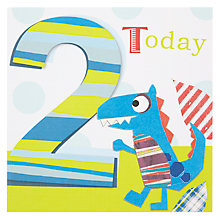 Buy Black Olive Dinosaur 2nd Birthday Card Online at johnlewis.com