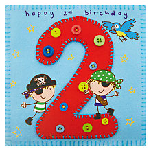 Buy Twizler Age 2 Pirate Birthday Card Online at johnlewis.com