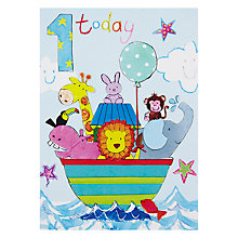 Buy Hammond Gower Age 1 Ark Boy Birthday Card Online at johnlewis.com