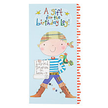 Buy Rachel Ellen A Gift Pirate Birthday Card Online at johnlewis.com