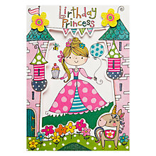 Buy Rachel Ellen Princess Birthday Card Online at johnlewis.com