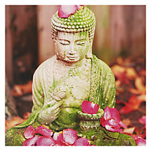 Buy Paper Rose Buddha And Petals Greeting Card Online at johnlewis.com