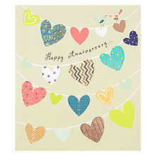 Buy Paperlink Anniversary Hearts Greeting Card Online at johnlewis.com
