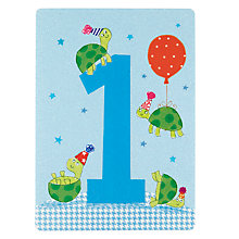 Buy James Ellis Stevens Boy Age 1 Birthday Card Online at johnlewis.com