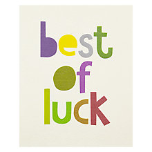 Buy Really Good Best Of Luck Greeting Card Online at johnlewis.com